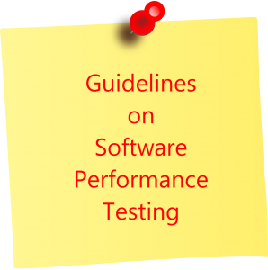 Guidelines on software performance testing