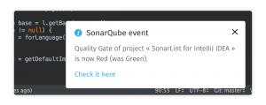 SonarLint Push Notifications
