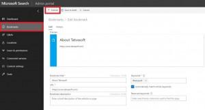 Inside Bing admin panel