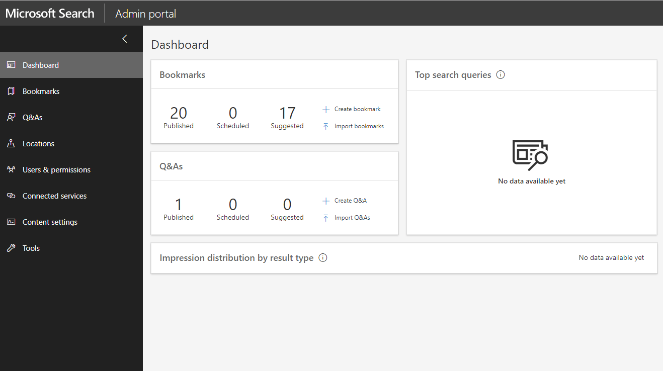 Microsoft Search Dashboard