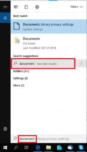Windows Cortana search box