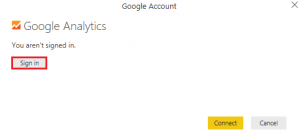 Signin Google analytics