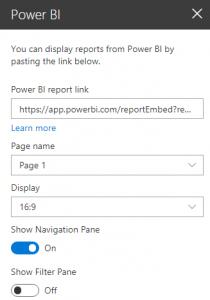 Web part settings