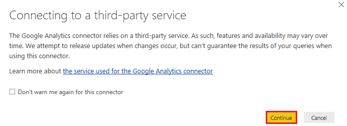 connecting to a third-party service
