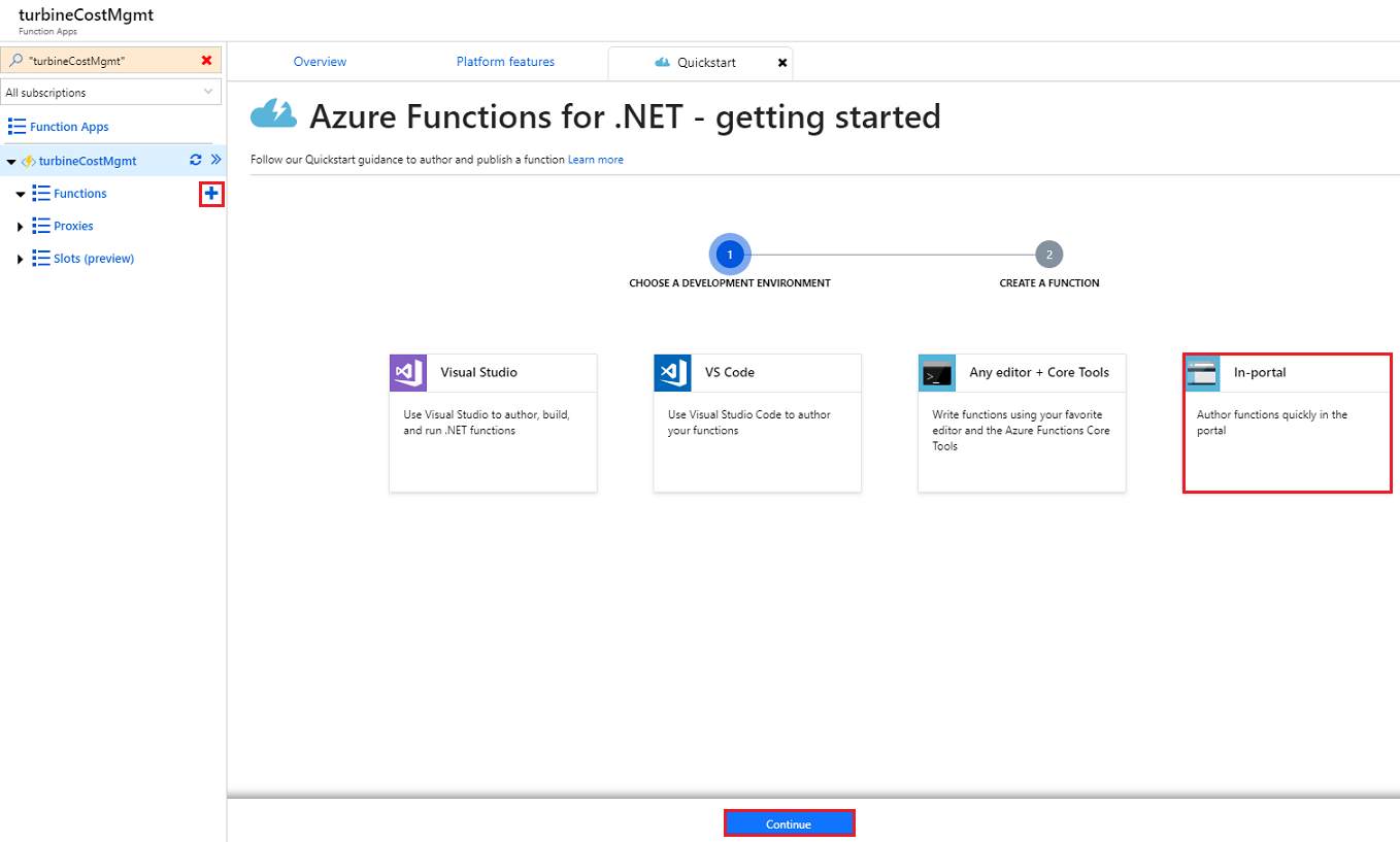 Azure Functions for .net