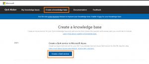 Create a knowledge base