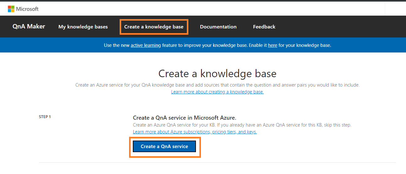 Create a knowledge base