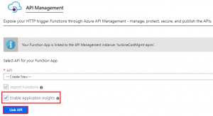 Enable Application Insights
