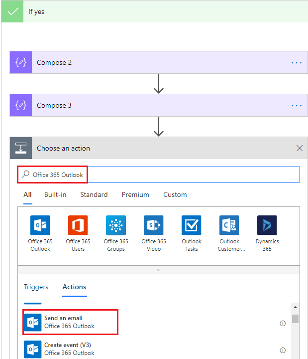Search for Office 365 Outlook