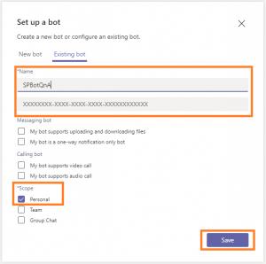 Set Bots Microsoft App ID