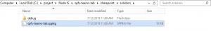 Update .sppkg file