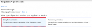 Delegated permissions