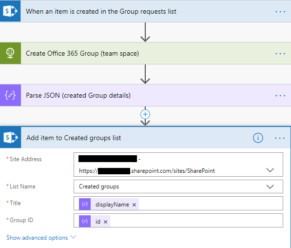 SharePoint - Create item