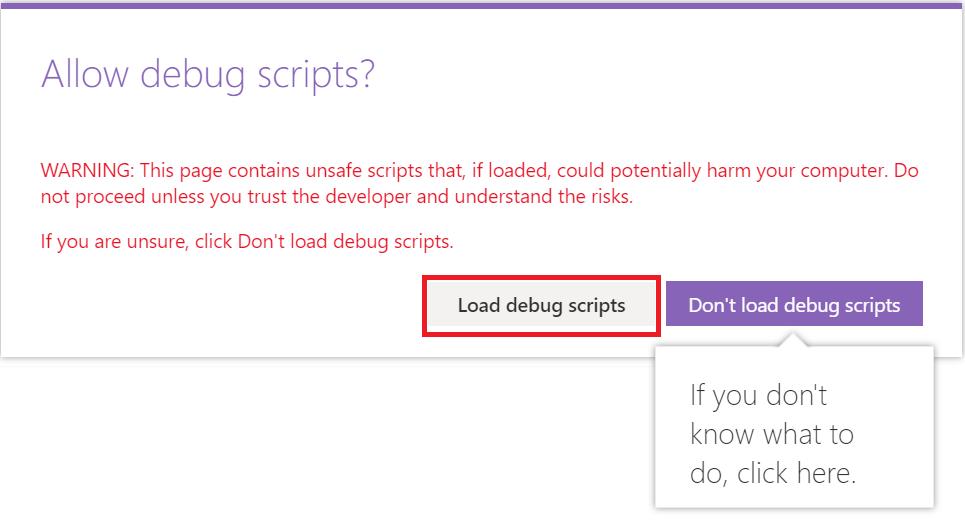 Load debug scripts