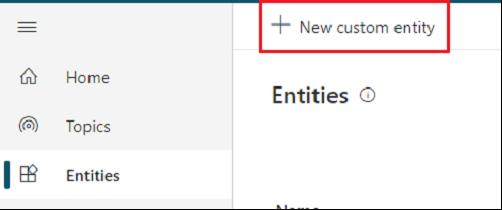 New Custom Entry