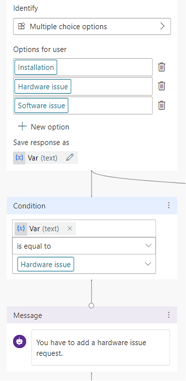 You have to add hardware issue request