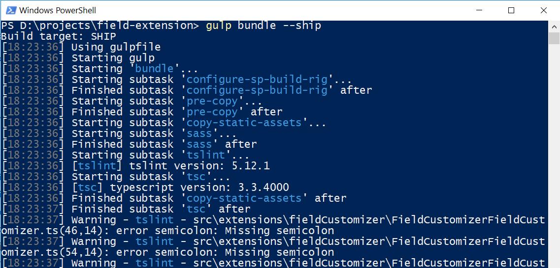 gulp bundle -ship