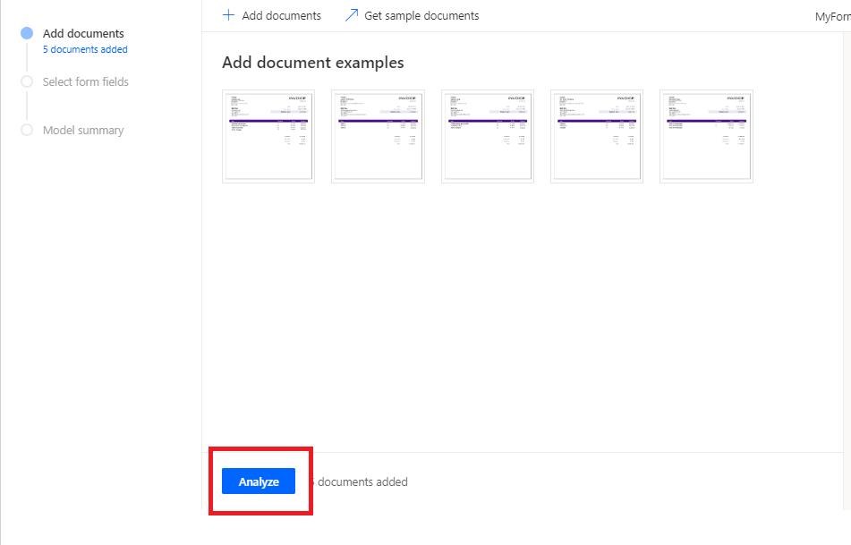 Click on Analyze button