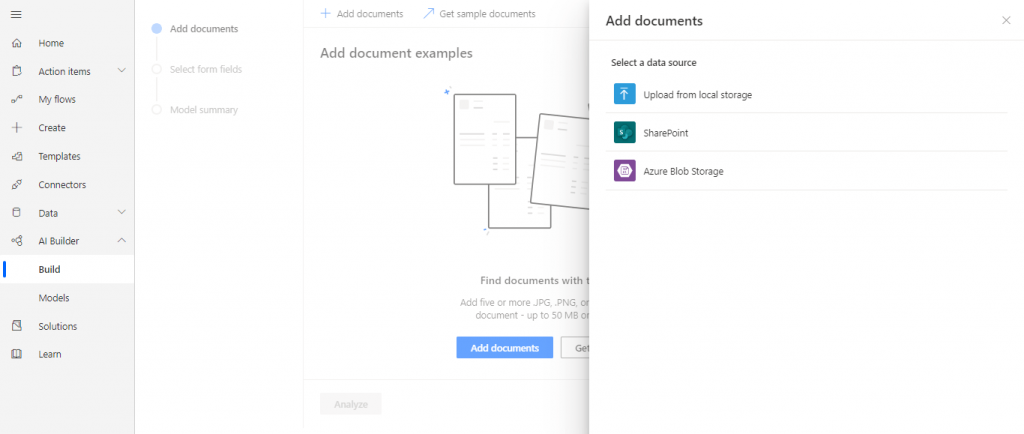 upload document from local strorage