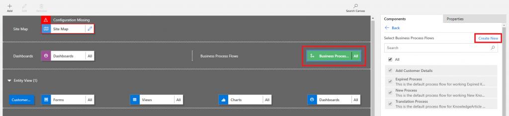 Business Process option