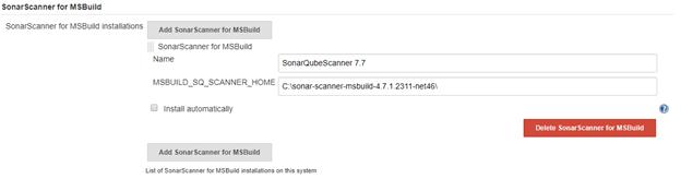 Sonarqube scanner