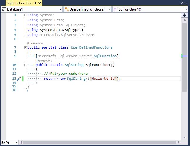 Write SQL Function in C#