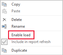 Power Query Load