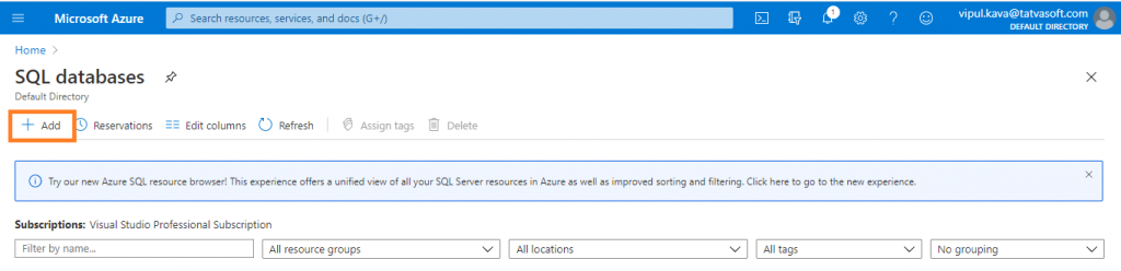 Add SQL DataBase