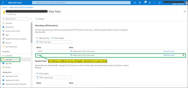 Azure SQL database using the Azure function