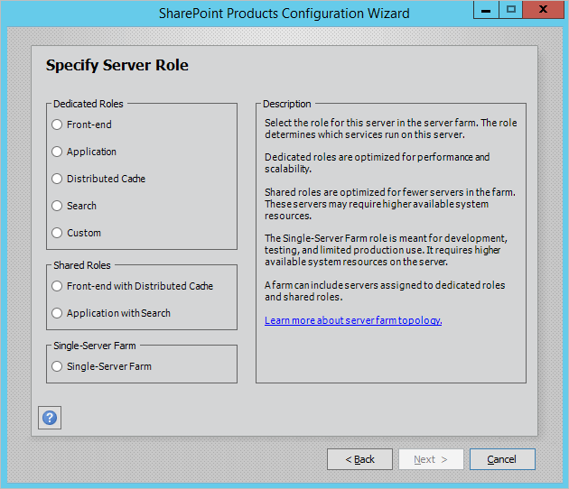 SharePoint Configuration Wizard