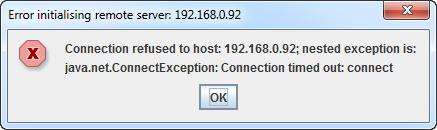 error initialising remote server