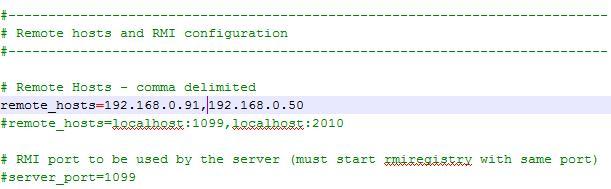 machine(s) IP list