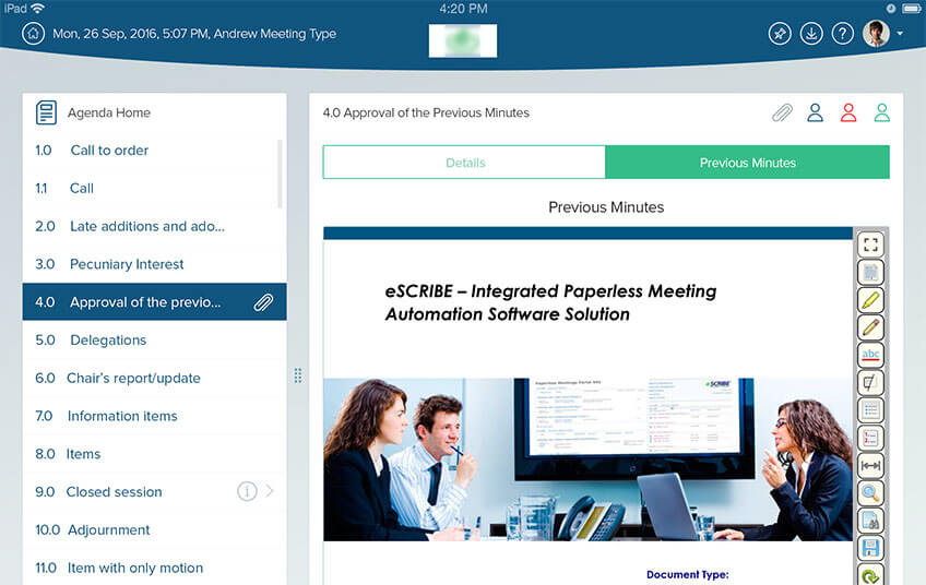 escribe-meeting-approval-previous
